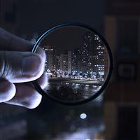 World of night lens city iPad wallpaper