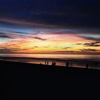 Sunset beach sea sky vacation iPad wallpaper