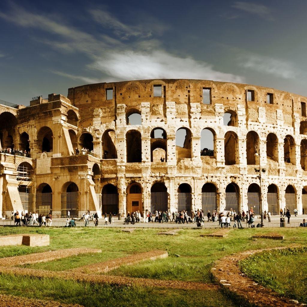 Italy rome colosseum architecture iPad wallpaper