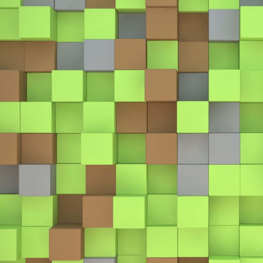 Minecraft Cubes iPad wallpaper