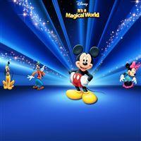Disney  Characters Dark Blue iPad wallpaper