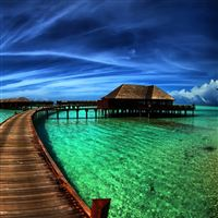 Amazing Sea Resort iPad wallpaper