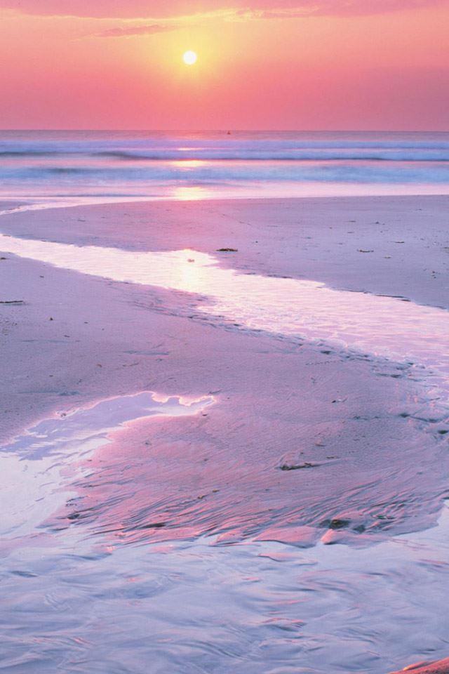 Estuary At Sunset IPhone 4s Wallpaper