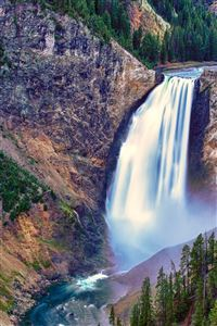 Lower Falls Yellowstone National Park iPhone 4s wallpaper