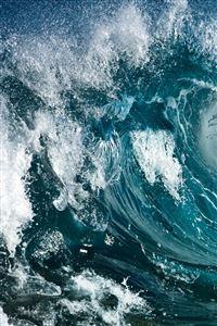 Wave iPhone 4s wallpaper