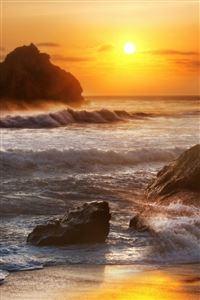 Sunrise at sea iPhone 4s wallpaper