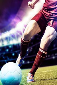 Kicking The Football Moment iPhone 4s wallpaper