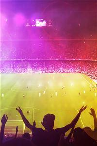 Cheerful Football Gymnasium iPhone 4s wallpaper