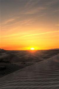 Sunset Landscape In The Desert iPhone 4s wallpaper