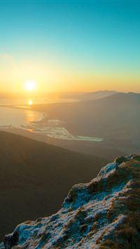 Mountain Sky Sunset Peak iPhone 4s wallpaper