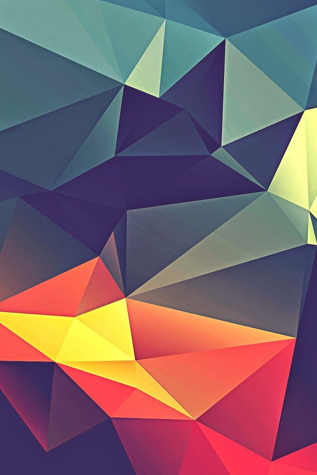 Colorful Polygonal Render IPhone 4s Wallpaper Download