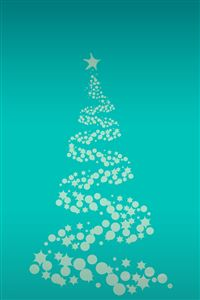 Christmas Snowy Tree Pattern Background iPhone 4s wallpaper