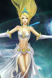 League of Legends Storm Goddess iPhone 4s wallpaper