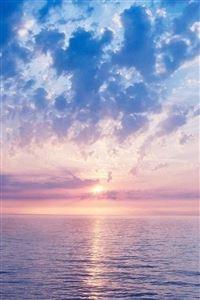 Nature Fantasy Purple Sunrise Scene Over Sea iPhone 4s wallpaper
