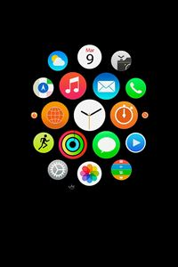 Apple Watch Icons Art Illust Dark iPhone 4s wallpaper
