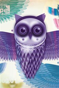 Art Owl iPhone wallpaper