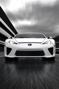 White Lexus iPhone 4s wallpaper