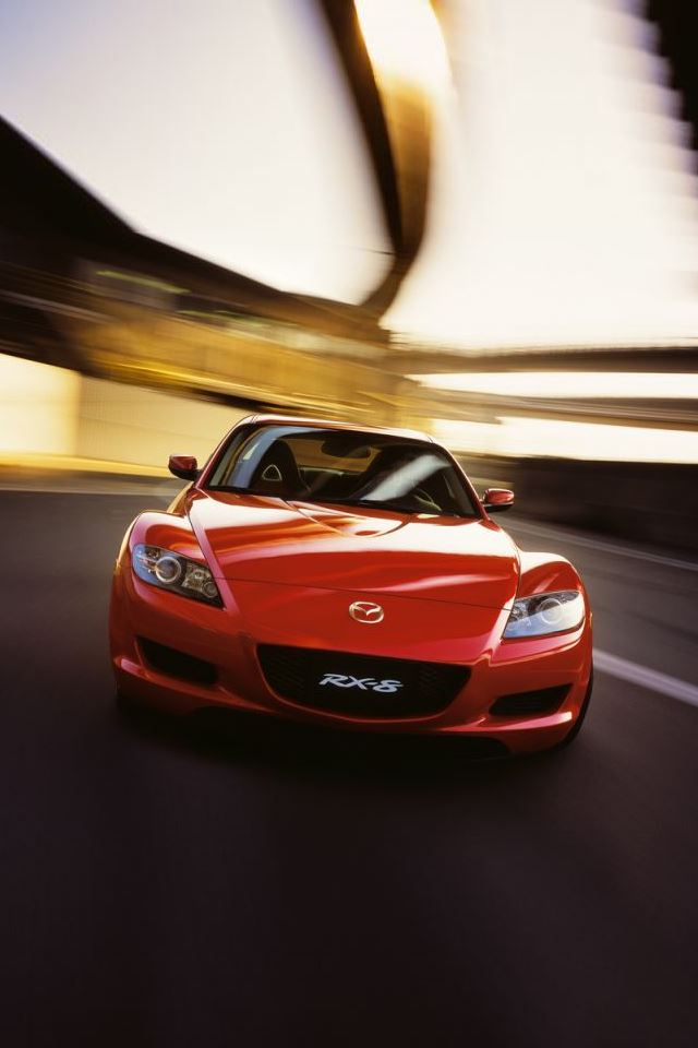 Mazda RX 8 iPhone 4s wallpaper
