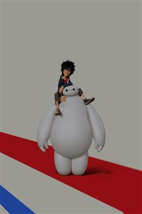 Big Hero 6 Cute Dark Disney Art Illust iPhone 4s wallpaper