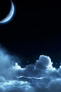 Cloudy Moon iPhone 4s wallpaper