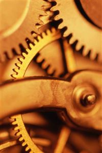 Technology Mechanic Retro Golden Gear iPhone 4s wallpaper