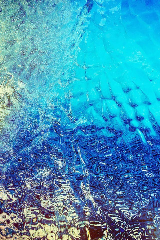 Abstract Blue Dew Window Art Background iPhone 4s wallpaper