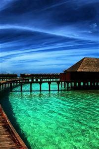 Maldives Fantasy Beautiful View iPhone 4s wallpaper