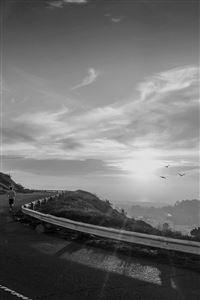 The Runner Mountain Jogging Sun Morning Nature Dark iPhone 4s wallpaper