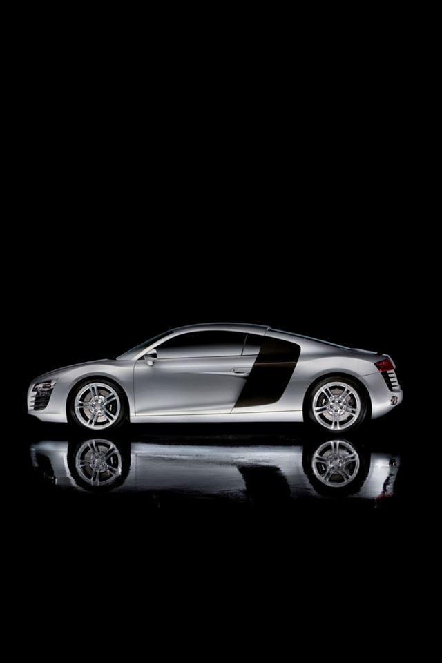 Audi R8 Dark Concept Car iPhone 4s wallpaper