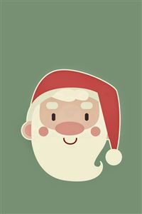 Cute Santa Claus Minimal Illustration iPhone 4s wallpaper