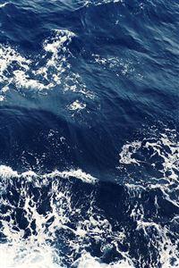 Foamy Blue Ocean Waves iPhone 4s wallpaper