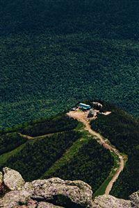 Nature Green Mountain Top iPhone 4s wallpaper