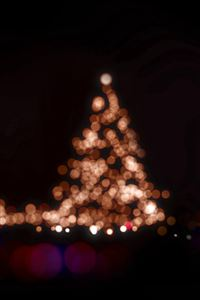 Christmas Lights Bokeh Love Dark Night iPhone 4s wallpaper