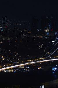 City View Dark Night iPhone 4s wallpaper
