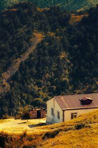 Karabakh Armenia Nature With Mountain House Fall iPhone 4s wallpaper