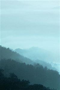 Mountain Fog Green Nature iPhone 4s wallpaper