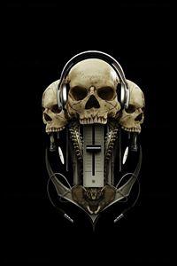Skull Mixer iPhone 4s wallpaper