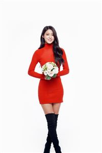 Seolhyun Aoa Red Christmas Cute Music White iPhone 4s wallpaper