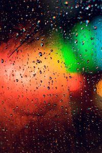 Colorful Wet Window iPhone 4s wallpaper