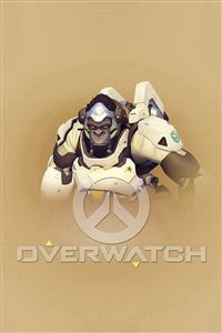 Overwatch Winston Cute Game Art Illustration iPhone 4s wallpaper