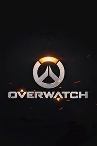 Overwatch Logo Simple Game Art Illustration Dark iPhone 4s wallpaper