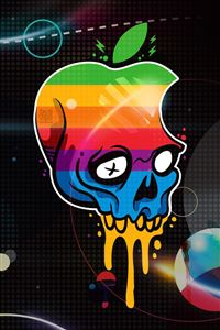 Apple Logo Skull iPhone 4s wallpaper