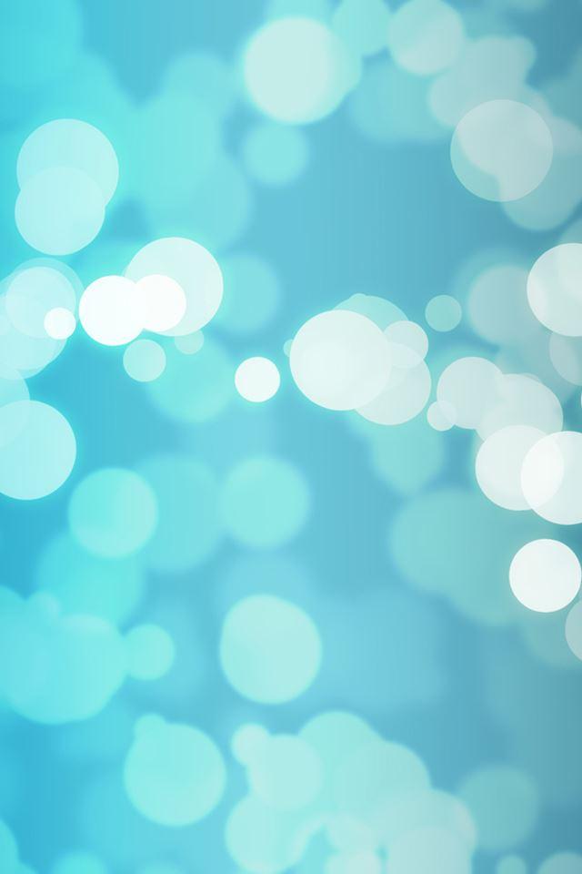 Blue Bokeh IPhone 4s Wallpaper