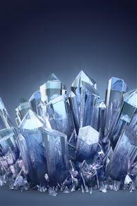 Blue Crystals iPhone 4s wallpaper