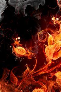 Fire Flowers iPhone 4s wallpaper
