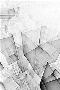 Abstract Bw White Cube Pattern iPhone 4s wallpaper