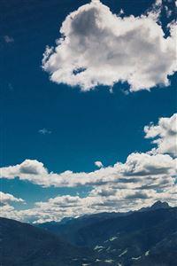 Nature Sky Cloud Mountain Green Summer iPhone 4s wallpaper