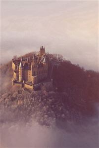Castle Sky Cloud Dream Fantasy Art Nature Flare iPhone 4s wallpaper