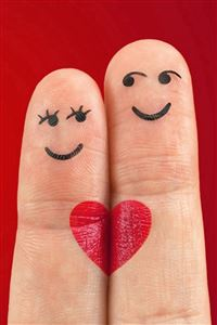 Lovely Love Heart Shaped Fingers Couple iPhone 4s wallpaper