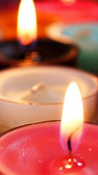 Candle Flame Wick Wax iPhone 4s wallpaper